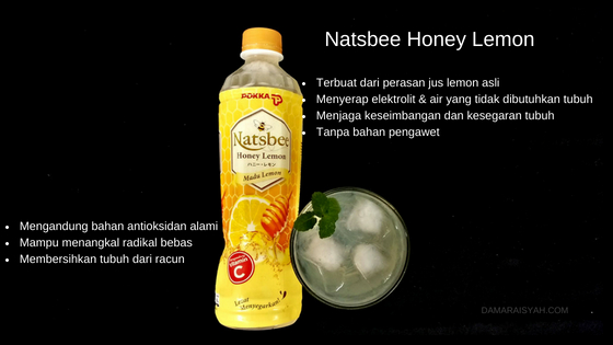 Natsbee Honey Lemon minuman antioksidan