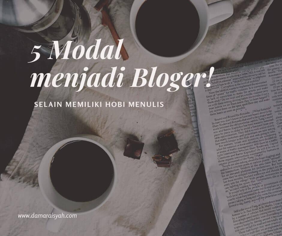 Modal menjadi blogger