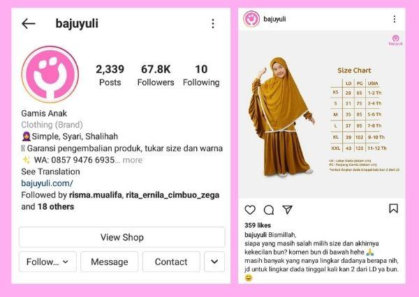 Belanja gamis anak di Instagram