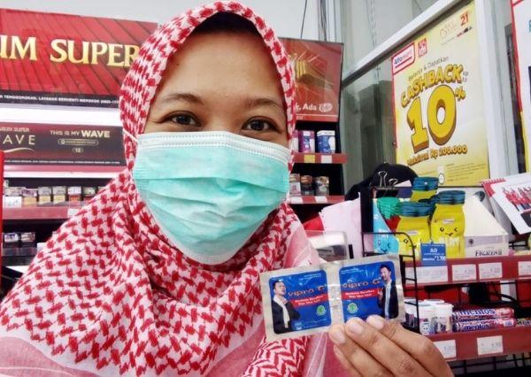 Vipro-G dapat di beli di apotik atau mini market