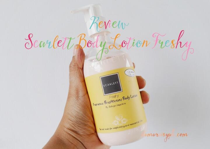 Review Scarlett body lotion warna kuning