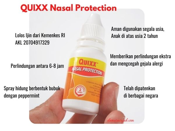 apakah kandungan quixx nasal protection aman