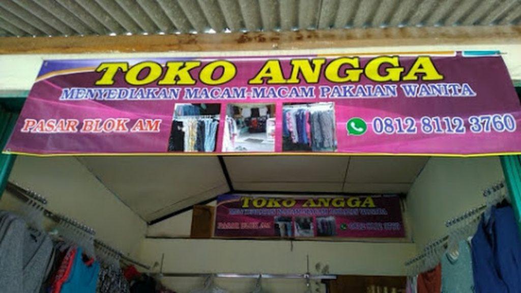 Toko pakaian wanita di Pasar Blok AM Bekasi