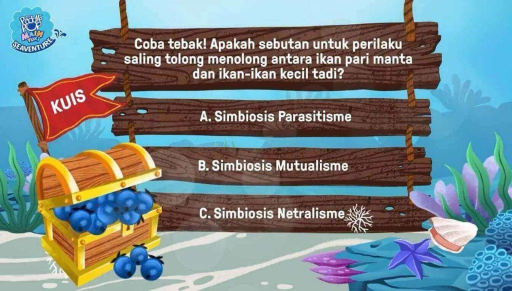 Kuis interaktif dalam tayangan Paddle Pop Main Yuk Seaventure