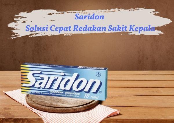 Saridon obat sakit kepala mengandung paracetamol