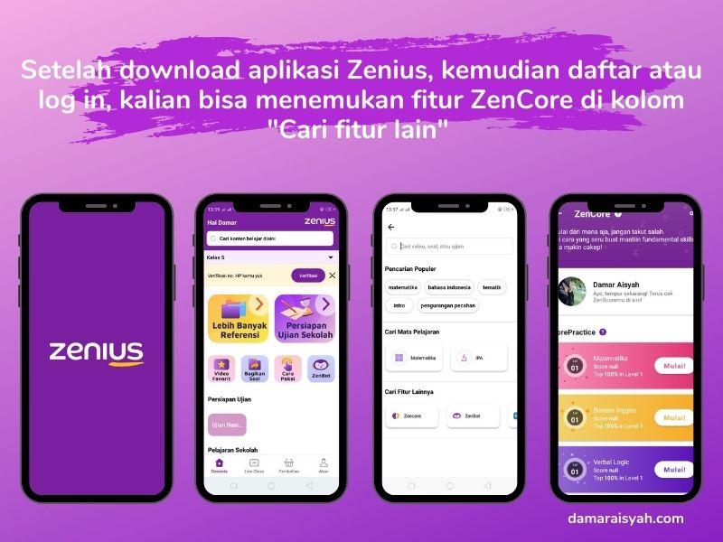 Download aplikasi Zenius yang dapat digunakan di sistem android dan iOS