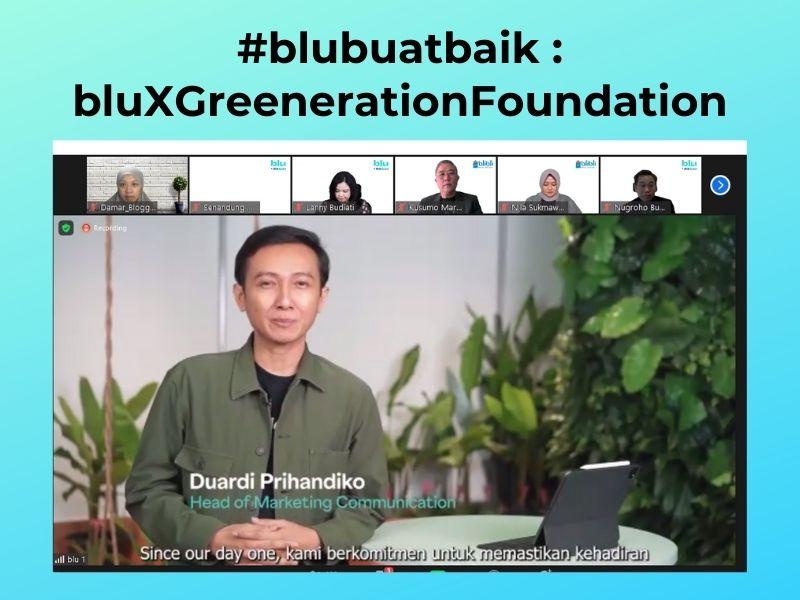 Ekosistem digital blu dengan Greeneration Foundation dalam menanggulangi sampah
